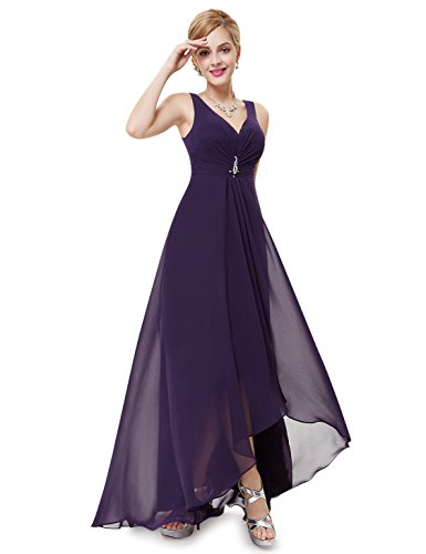 Ever-Pretty Juniors Formal Evening Prom Gown 12 US Dark Purple (Ever Pretty Purple Prom Dress)