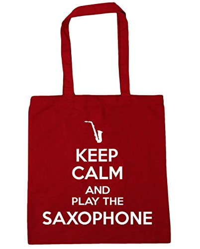 42cm Gym Play Saxophone Classic and x38cm Beach the Bag HippoWarehouse Keep 10 Tote Red Shopping Calm litres Sqp4xPU