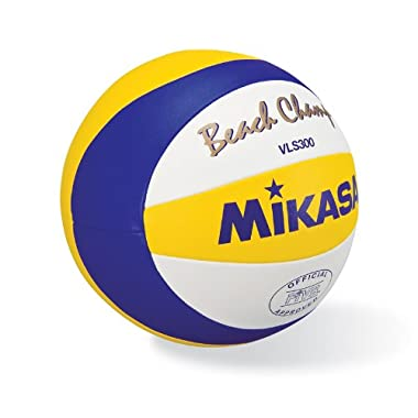 Mikasa Beach Champ Volleyball, Official size, Blue/Yellow