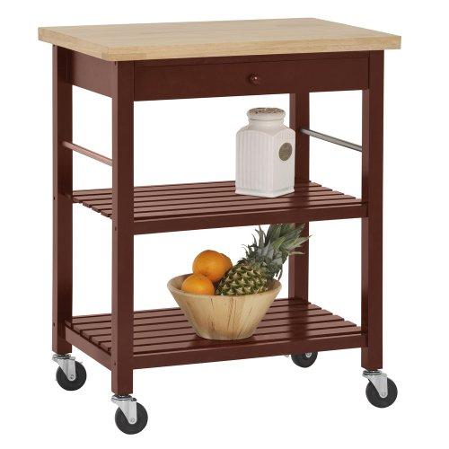 Kitchen Cart Height: Sandusky Lee MKT292036 Wood Kitchen Utility Cart With Wood