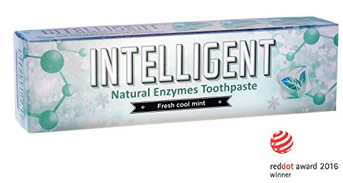 INTELLIGENT SALIVA-BASED ENZYMES TEETH WHITENING TOOTHPASTE FOR HUMANS, Best Natural Oral Care, Get Rid of Mouth Canker Sore, Sulfate Free, FluorideFree (Fresh Cool Mint, 2.82 Ounce) Dry Mouth Canker Sores