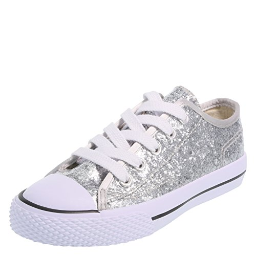 Airwalk Silver Glitter Kids' Legacee Sneaker 5.5 Regular -