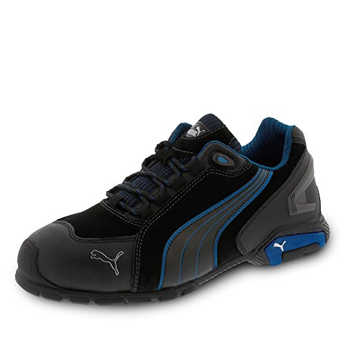 Puma Safety Toe Cap Mens Low Safety Rio S3 negro Shoes Suede Footwear Rated AAq8zndxrw