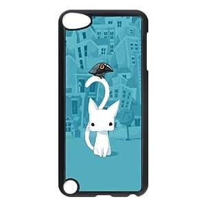 iPod Touch 5 Case Black Cute City Cartoon Cat LV7091616
