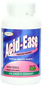 Enzymatic Therapy  Acid Ease Digestion formula for Sensitive Stomachs, 180 Veg Capsules