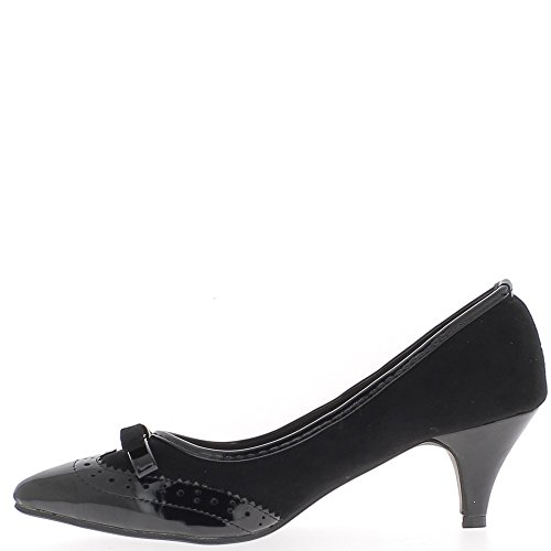 Shoes woman bi material black end 5.5 cm heel P5MvY
