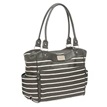 Carter's CA10780 Convertible Tote Diaper Bag Grey & White Stripe