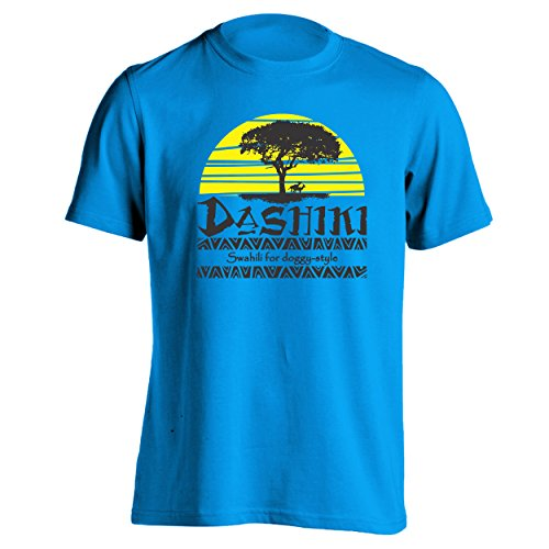 Dashiki Swahili For Doggy Style Mens Shirt Medium Aqua