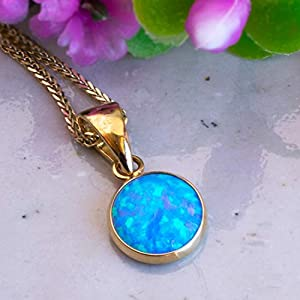 blue-opal-gold-necklace-14k-with-8mm-gemstone