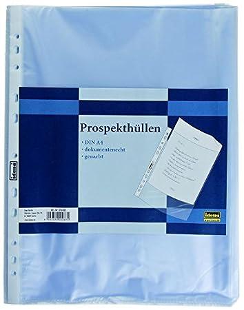 genarbt 1000 Prospekthüllen DIN A4