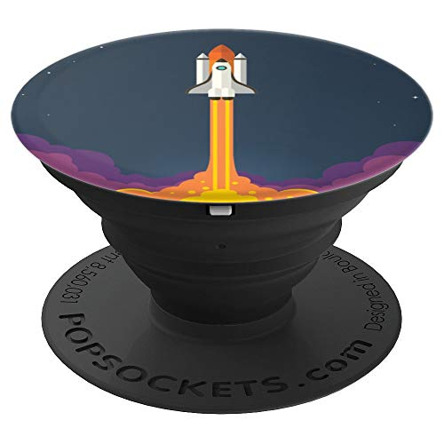 Astronauts Spaceship Shuttle Spaceman Sun Moon Lover Gift - PopSockets Grip and Stand for Phones and -