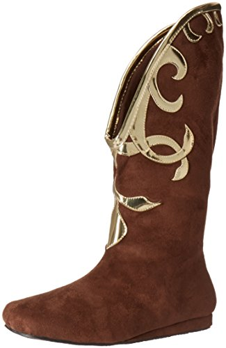 Slave Princess Leia Costume (Ellie Shoes Women's 103-Alba Boot, Brown, 10 M US)