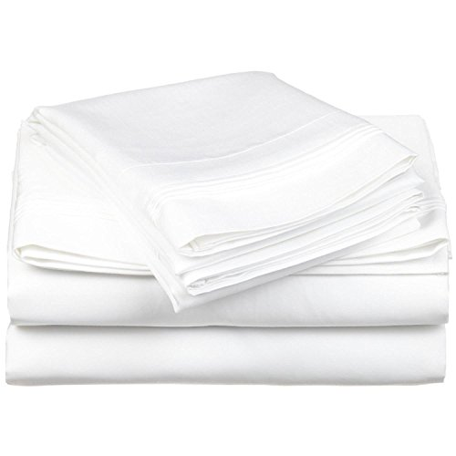 (Luxurious Finish Comfortable Sleeper Sofa Bed Sheets Set, Egyptian Cotton - Solid White (Queen Size 60