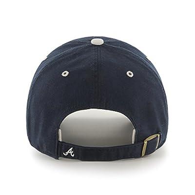 MLB Atlanta Braves Ice Adjustable Hat, One Size, Navy