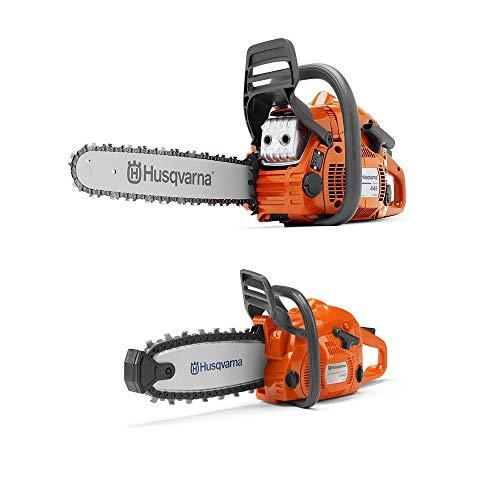 [해외]Husqvarna 445E 18-Inch Bar Gas Chainsaw and 440 Toy Childrens Chainsaw Orange / Husqvarna 445E 18-Inch Bar Gas Chainsaw and 440 Toy Childrens Chainsaw, Orange