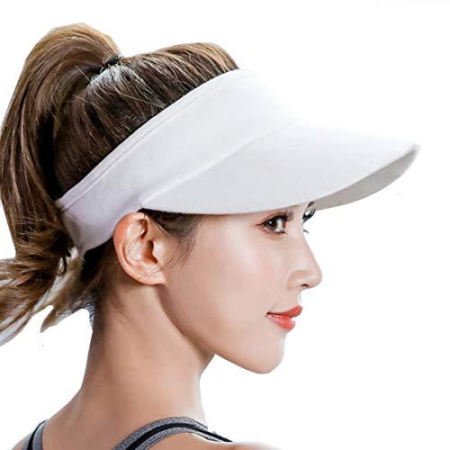 Visors for Women and Men Long Brim Thicker Sweatband Adjustable Sun Hat Caps