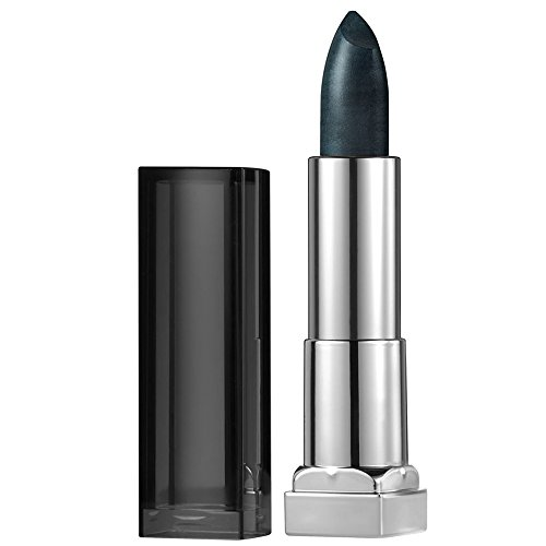- Maybelline New York Color Sensational Dark Silver Lipstick Metallic Lipstick, Gunmetal, 0.15 oz