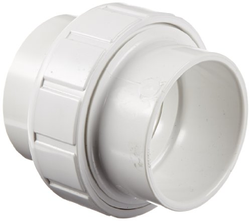 "Spears 457 Series PVC Pipe Fitting, Union with Buna O-Ring, Schedule 40, 2"" Socket"