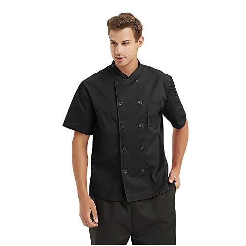 Custom Chef Coat Short Sleeve Chef Jacket Personalized Uniform Add Name & Logo |