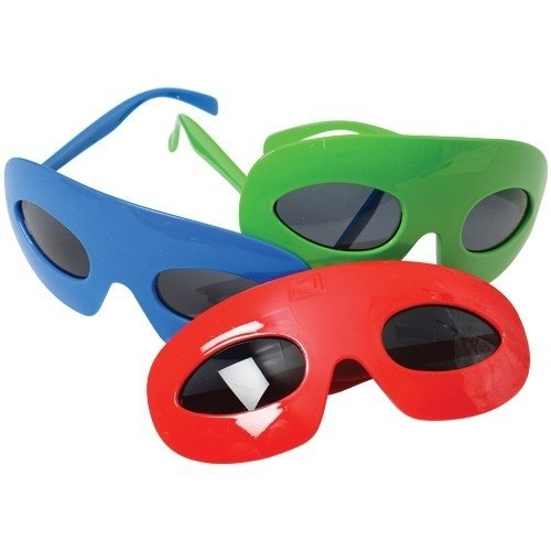 [Superhero Mask Glasses, Colors May Vary (Pack of 12)] (Make Your Own Superhero Costume)