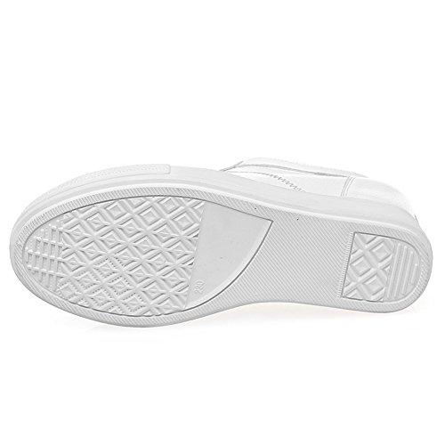 de Cuña Jamron Comodidad Oculta Microfibra Blanco Mujer Cuero Talón Suave Zapatillas OBwgwpqYS