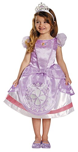 UHC Princess Sofia the First Girls Deluxe Fancy Dress Halloween Costume, Toddler M (3T-4T) (New Disney Channel Halloween Movies)