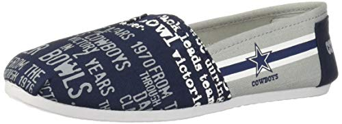FOCO NFL Womens SMU Thematic Womens Canvas Shoe: Dallas Cowboys, Medium ()