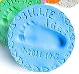 Baby Care Air Hand Foot Inkpad Drying Soft Clay Baby Handprint Footprint Imprint Casting Parent-Child Hand Inkpad Fingerprint (Blue)