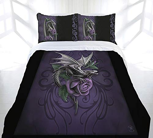 DRAGON BEAUTY Duvet & Pillows Case Covers Set for Queensize Bed Artwork By Anne Stokes