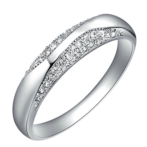 [AmDxD Jewelry Gold Plated Women Engagement Rings Silver Flower Cut CZ Size 9,Gift For Girls] (Gay Star Wars Costume)