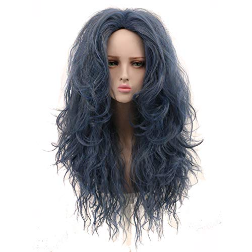 Yuehong Long Wavy Wig Synthetic Anime Cosplay Wig Heat Resistant Wig Hair Wigs ()
