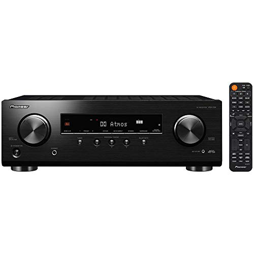 Pioneer VSX-534 Home Audio Smart AV Receiver 5.2-Ch HDR10, Dolby Vision, Atmos and Virtual Enabled with 4K and Bluetooth