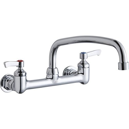 Elkay LK940AT12L2H Chrome Finish Solid Brass Faucet with 12