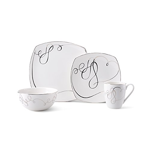 Mikasa Love Story Square 4-Piece Place Setting, Service for 1