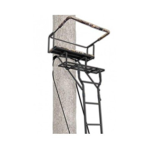 Hunters' 15-foot 2-man Ladderstand for Tree High Viewpoint - Ameristep Full Body Safety Harness