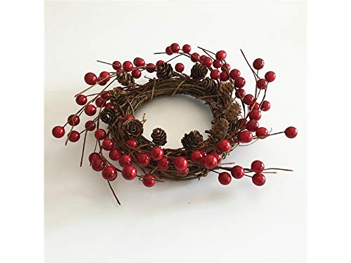 Junson Xmas Gift Simulation Berry Christmas Wreath Door Hanging Ornaments Room Christmas Tree Pendants for Decoration(Red) for Xmas by Junson (Image #1)