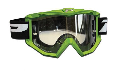 Progrip Race Line Goggles w/Antiscratch Lens Green 3201GN