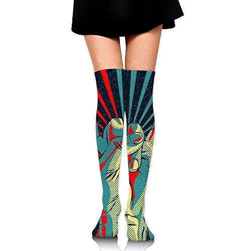 Rock-N-Roll Love Over The Knee Long Socks Tube Thigh-High Sock Stockings For Girls & Womens