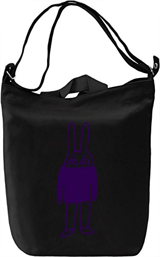 Doodle rabbit Borsa Giornaliera Canvas Canvas Day Bag| 100% Premium Cotton Canvas| DTG Printing|