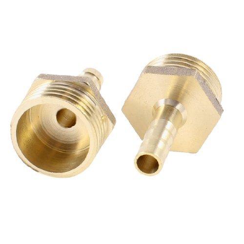 eDealMax 2 piezas de latón DE 6 mm de aire Tubería de Gas adaptador Para manguera 1/2 rosca Macho PT acoplamientos