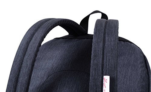 936Plus College School Backpack Travel Rucksack | Fits 15.6'' Laptop | 18''x12''x6'' | Black by hotstyle (Image #6)'