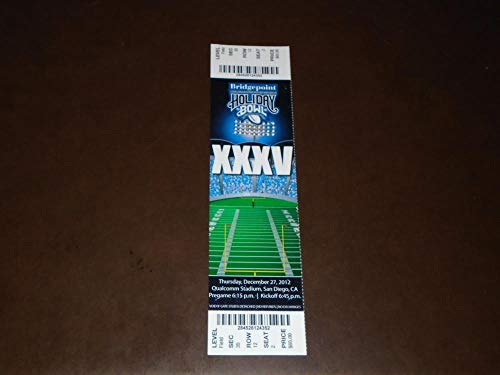 2012 HOLIDAY BOWL FOOTBALL FULL TICKET BAYLOR VS UCLA for sale  Delivered anywhere in USA