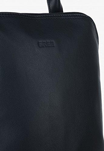 BREE, Borsetta da polso donna nero black smooth 28 cm x 33 cm x 16 cm (B x H x T) blu navy