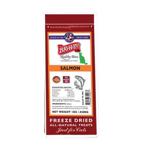 BRAVO 294127 Healthy Bites Salmon Food for Pets, 1-Ounce, My Pet Supplies