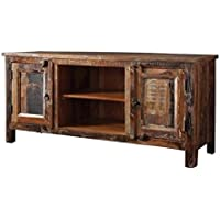 Bowery Hill 60 TV Stand with Accent Cabinet in Reclaimed Wood