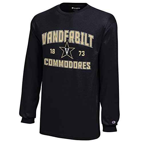 Champion NCAA Vanderbilt Commodores Youth Boys Long sleeve Jersey T-Shirt, Small, Black