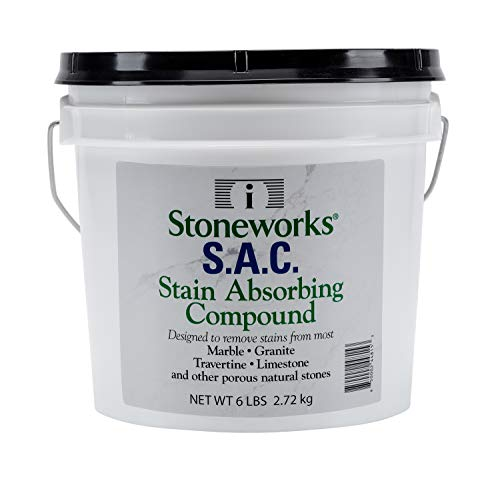 SAC Poultice Powder (6 Lb) Designed to eliminate stains such as coffee, tea, oil, grease, butter and other non-acid stains from marble, granite, limestone, travertine & other porous natural stones