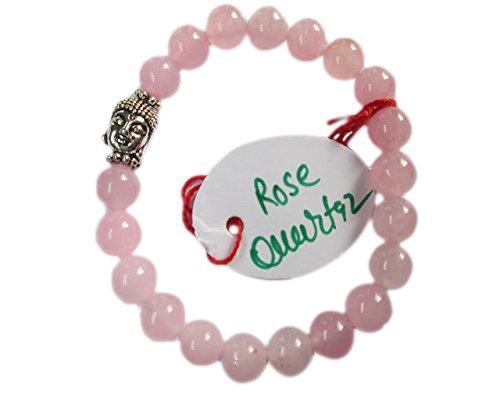 wholesalegemshop-rose-quartz-8-mm-bead-buddha-bracelet