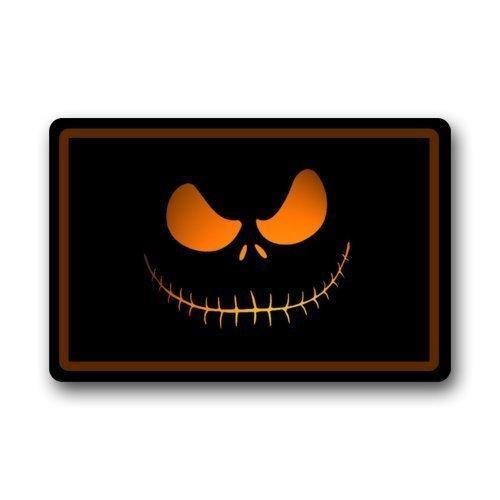 Custom Machine-washable The Nightmare Before Christmas Skellington Halloween Indoor/Outdoor Floor Mat Door Mat Doormat Size 23.6(L) x 15.7(W) by (Custom Halloween Doormats)