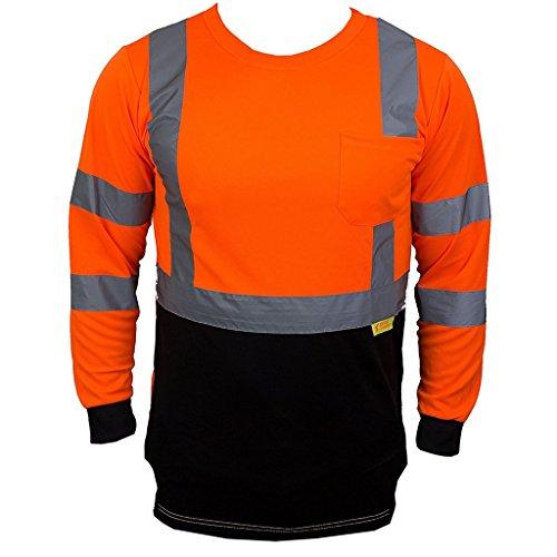 ALLTRADE APPAREL, LLC Honor Loyalty Reflective Long Sleeve Black Bottom (Large, Orange/Black)